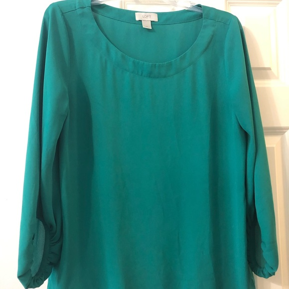 LOFT Tops - Teal bell sleeve loft top